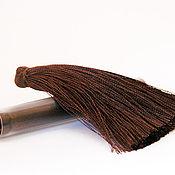 Материалы для творчества ручной работы. Ярмарка Мастеров - ручная работа Кисточки для серег - темный шоколад. Handmade.