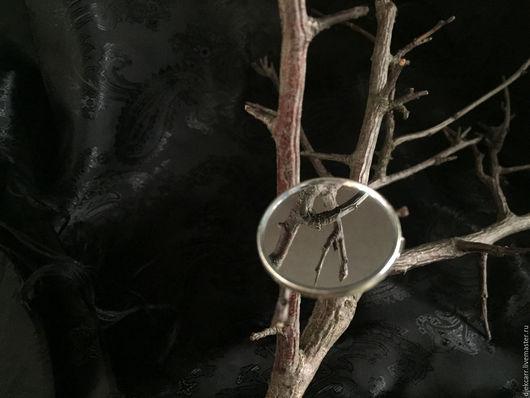 Броши ручной работы. Ярмарка Мастеров - ручная работа. Купить Зеркальная брошь 2,5 см под серебро. Handmade.