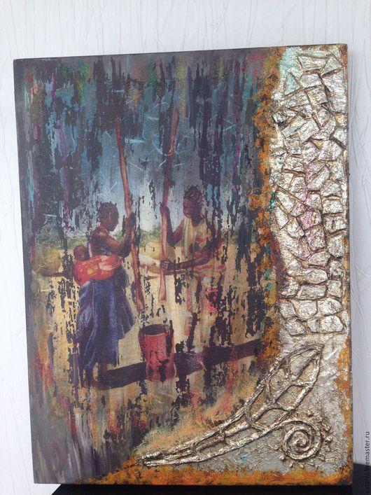 """Этно ручной работы. Ярмарка Мастеров - ручная работа. Купить Панно """"Такая разная Африка"""". Handmade. Панно, декор для интерьера"""
