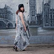 Одежда ручной работы. Ярмарка Мастеров - ручная работа Платье длинное из войлока на шелке. Handmade.