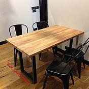 Для дома и интерьера ручной работы. Ярмарка Мастеров - ручная работа Дубовый обеденный стол в стиле лофт.. Handmade.