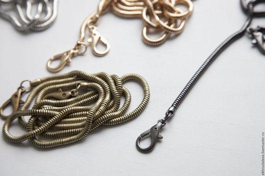 Другие виды рукоделия ручной работы. Ярмарка Мастеров - ручная работа. Купить Цепочка змейка, 120 см 2 цвета. Handmade.