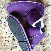 Обувь ручной работы handmade. Livemaster - original item Ugg boots made of sheepskin fur homemade. purple. Handmade.