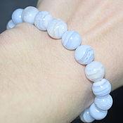 Украшения handmade. Livemaster - original item Bracelet made of natural blue agate (sapphirine). Handmade.