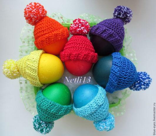 Netli13. Шапочки на пасхальные яйца `Радуга`. Основные цвета