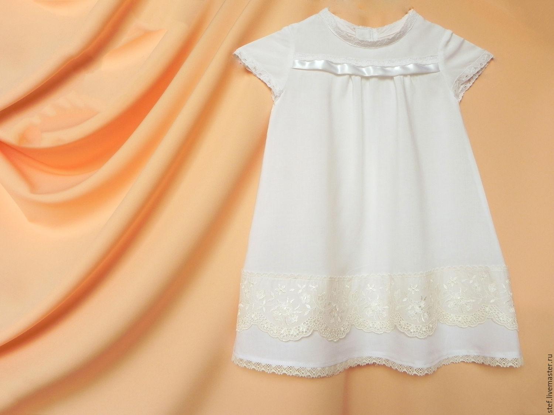 Нарядное крестильное платье для девочки своими руками 37