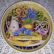 "Посуда ручной работы. Ярмарка Мастеров - ручная работа Тарелка ""Букет лаванды"". Handmade."