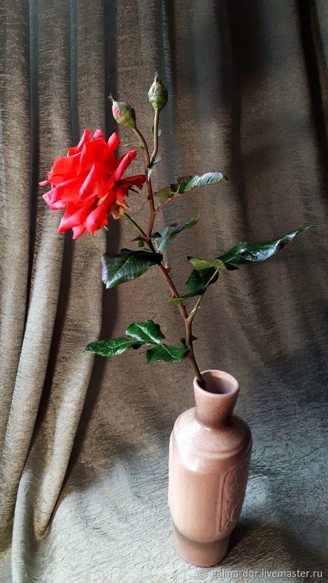 Роза садовая из полимерной глины, Букеты, Уфа,  Фото №1