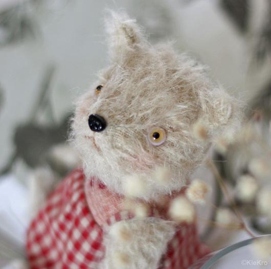 Мишки Тедди ручной работы. Ярмарка Мастеров - ручная работа. Купить Собачка Соня. Handmade. Бежевый, собачка тедди, мохер. Клетчатый Крокодил