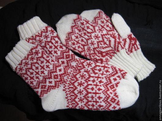 Этническая одежда ручной работы. Ярмарка Мастеров - ручная работа. Купить Подарочный комплект. Handmade. Носки, носки вязаные