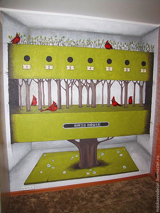 Декор поверхностей ручной работы. Ярмарка Мастеров - ручная работа. Купить 3D Роспись стены размер 250 х 270 см.. Handmade.