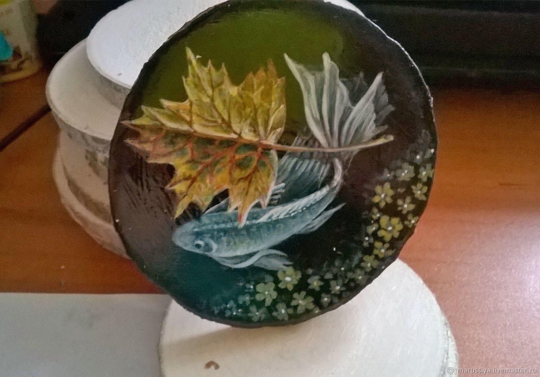 Рыбка с осенним листком, Магниты, Екатеринбург, Фото №1
