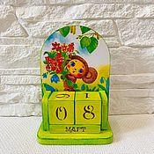 Канцелярские товары handmade. Livemaster - original item Perpetual calendar Cheburashka. Handmade.