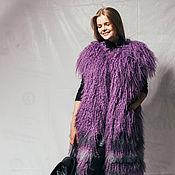 Одежда ручной работы. Ярмарка Мастеров - ручная работа Жилет из меха ламы. Handmade.