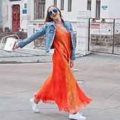 """Одежда ручной работы. Ярмарка Мастеров - ручная работа Платье """"Orange"""". Handmade."""
