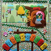 """Куклы и игрушки ручной работы. Ярмарка Мастеров - ручная работа Развивающее панно """"Винни -пух"""". Handmade."""