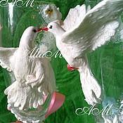 """Свадебный салон ручной работы. Ярмарка Мастеров - ручная работа Бокалы свадебные """"Голуби"""". Handmade."""