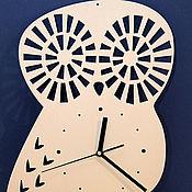 """Для дома и интерьера ручной работы. Ярмарка Мастеров - ручная работа Часы """"Сова"""". Handmade."""