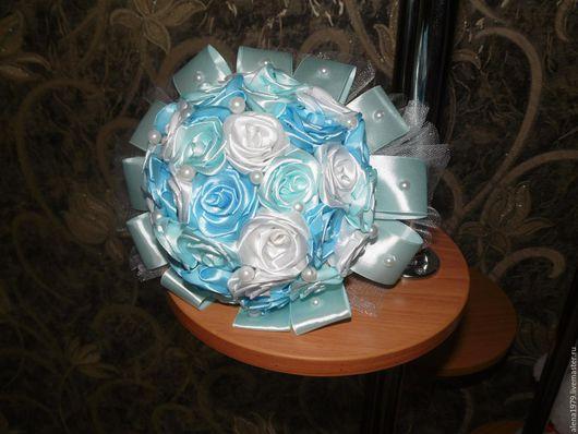 Свадебные цветы ручной работы. Ярмарка Мастеров - ручная работа. Купить букет невесты. Handmade. Атласный цветок, букет невесты