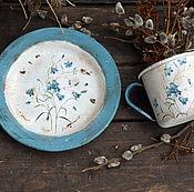 """Посуда ручной работы. Ярмарка Мастеров - ручная работа """"Колокольчики"""" набор для дачи, для дома. Handmade."""