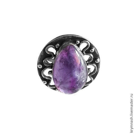 """Ring """"Violet saga"""" , silver, natural amethyst, Rings, Moscow,  Фото №1"""