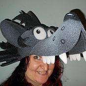 """Работы для детей, ручной работы. Ярмарка Мастеров - ручная работа шапка из поролона """"Волк"""". Handmade."""