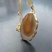 Винтаж handmade. Livemaster - original item Lucky. Author`s Pendant on a chain. Agate.. Handmade.