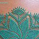Текстиль, ковры ручной работы. Зеленый вихрь. belcatya (Екатерина). Ярмарка Мастеров. Ажурная салфетка, 100% хлопок