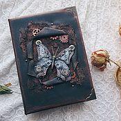 "Канцелярские товары ручной работы. Ярмарка Мастеров - ручная работа Блокнот серии ""Mechanical Animals"" - Butterfly. Handmade."