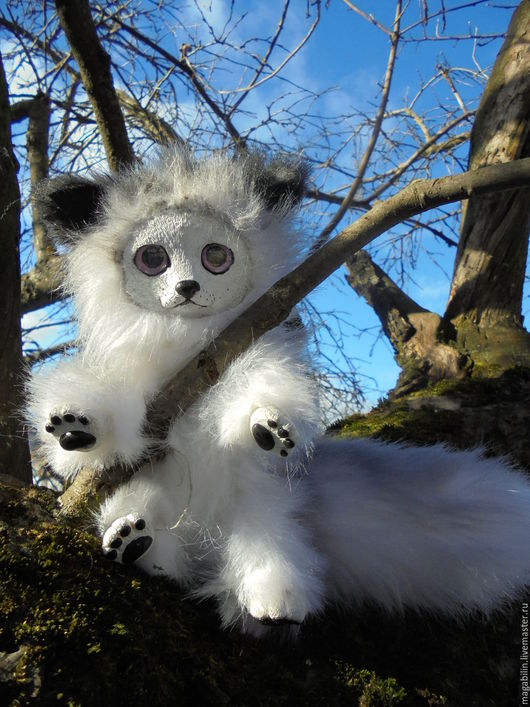 Игрушки животные, ручной работы. Ярмарка Мастеров - ручная работа. Купить Сreature. Handmade. Серый, животное, шерсть, шерсть, стекло