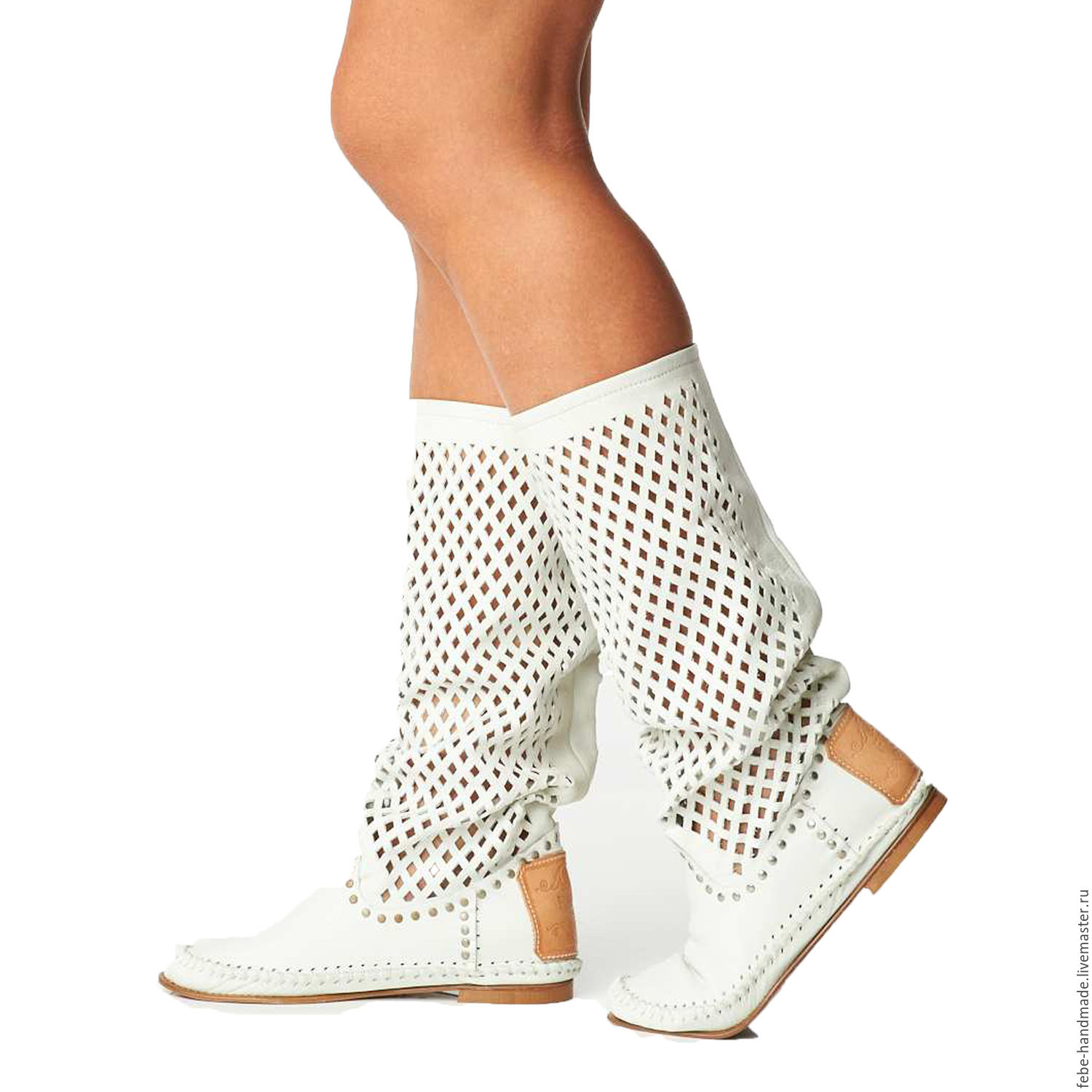 Summer perforated boots ROMBO /white – shop online on ...