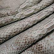 Материалы для творчества handmade. Livemaster - original item Python skin, in natural light grey!. Handmade.