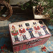 """Подарки к праздникам ручной работы. Ярмарка Мастеров - ручная работа """"Щелкунчики"""" сундучок-шкатулка. Handmade."""