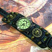 Украшения handmade. Livemaster - original item STEAMPUNK BRASS GEAR ONE WRIST WATCH
