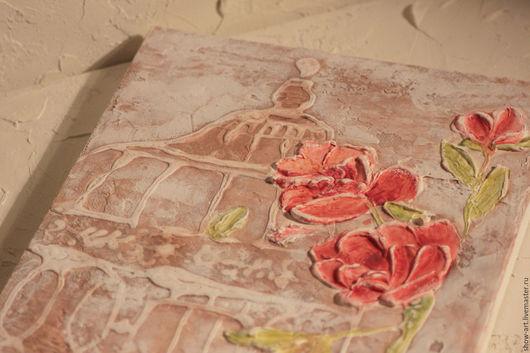 """Город ручной работы. Ярмарка Мастеров - ручная работа. Купить """"Тепло"""" Интерьерная картина. Handmade. Кремовый, картина для дома, пионы"""