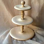 Материалы для творчества ручной работы. Ярмарка Мастеров - ручная работа ваза для фруктов 3-ярусная. Handmade.