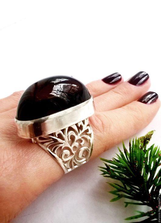 """Кольца ручной работы. Ярмарка Мастеров - ручная работа. Купить Кольцо """"Майя""""- раухтопаз,серебро 925. Handmade. Коричневый"""