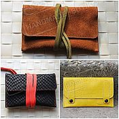 Сумки и аксессуары handmade. Livemaster - original item A pouch for tobacco made of suede and leather lace-UPS and buttons. Different colors.. Handmade.