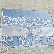 """Свадебный салон ручной работы. Ярмарка Мастеров - ручная работа Сундучок свадебный """"Ультрамарин"""" в голубом. Handmade."""