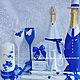 Свадебные аксессуары ручной работы. Ярмарка Мастеров - ручная работа. Купить Свадебный комплект в насыщенном синем. Handmade. Синий, Молодоженам