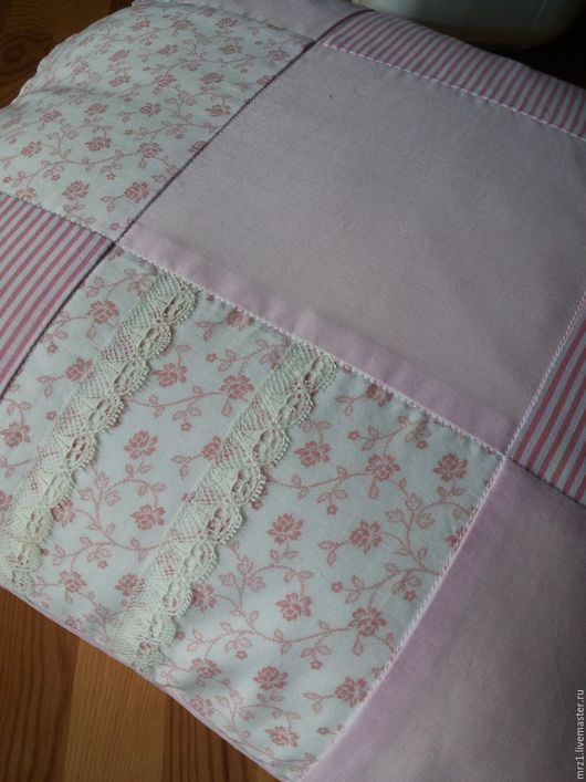 Текстиль, ковры ручной работы. Ярмарка Мастеров - ручная работа. Купить Лоскутная подушка. Handmade. Розовый, нежно-розовый