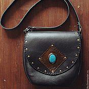 Сумки и аксессуары handmade. Livemaster - original item Bag made of natural leather with a howlite