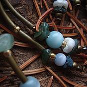 """Украшения ручной работы. Ярмарка Мастеров - ручная работа """"Хвойные сказки"""", серия бохо-серёжек с кварцем. Handmade."""