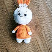 Куклы и игрушки handmade. Livemaster - original item Knitted toy hare with sad eyes handmade. Handmade.