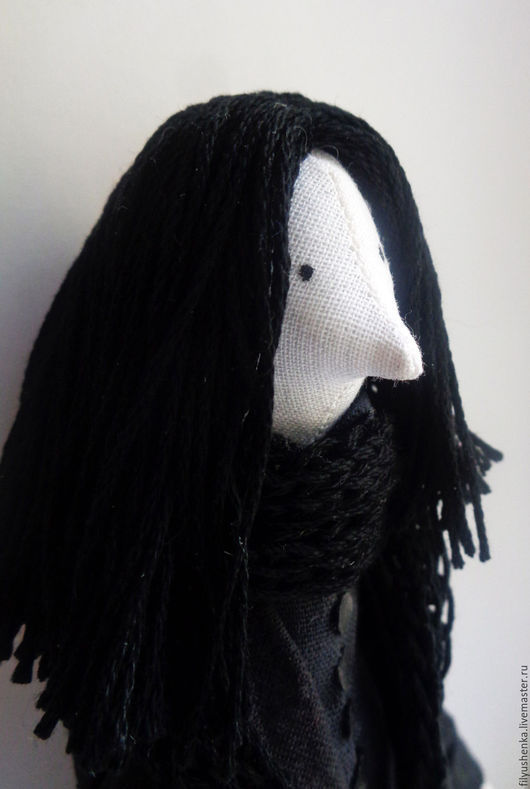 Коллекционные куклы ручной работы. Ярмарка Мастеров - ручная работа. Купить Северус Снейп. Handmade. Снейп, синтетическая ткань