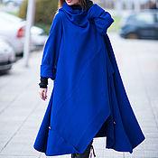 Одежда handmade. Livemaster - original item Cashmere coat, the Royal blue color - CT0001CA. Handmade.
