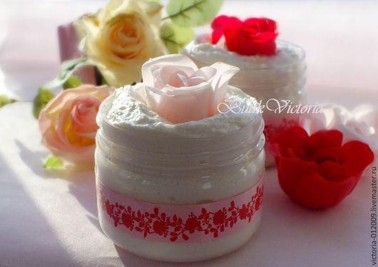 Пена, молочко для ванны ручной работы. Ярмарка Мастеров - ручная работа. Купить Суфле для ванны РОЗА 300 мл. Handmade.