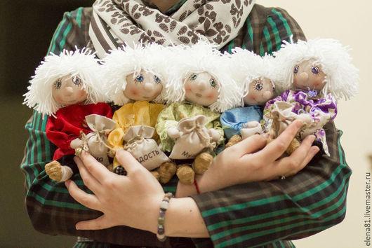 Коллекционные куклы ручной работы. Ярмарка Мастеров - ручная работа. Купить Куземочка-Домовеночек. Handmade. Сиреневый, кукла ручной работы