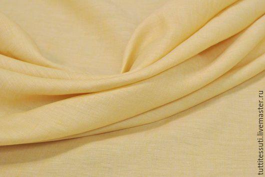 Шитье ручной работы. Ярмарка Мастеров - ручная работа. Купить Лен 02-003-1835. Handmade. Желтый, Плательная ткань
