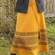 Одежда ручной работы. Ярмарка Мастеров - ручная работа юбка вязанная с орнаментом. Handmade.